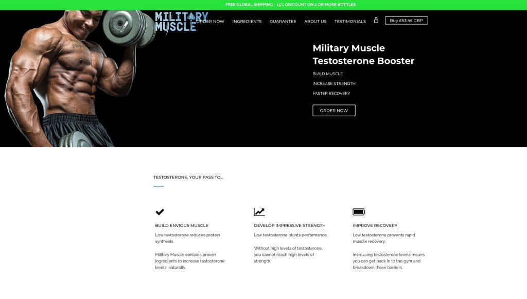 military muscle website